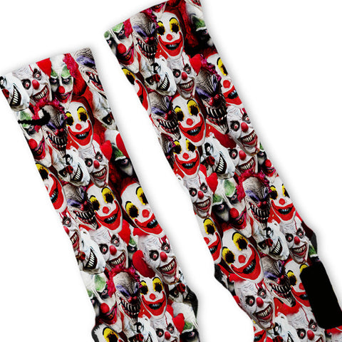 Crazy Clowns Custom Nike Elite Socks