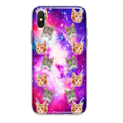 CRAZY SPACE CATS CUSTOM IPHONE CASE