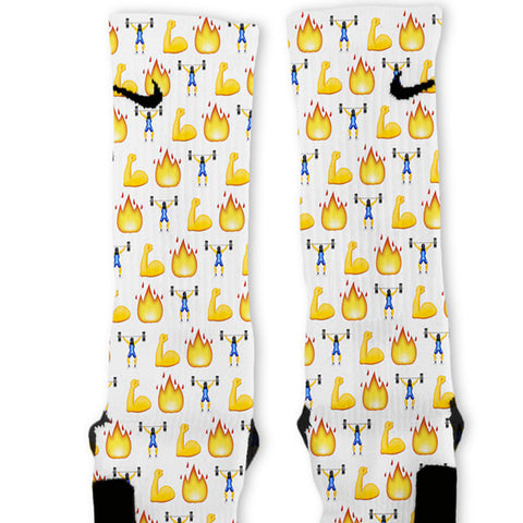 Crossfit Emoji Custom Nike Elite Socks