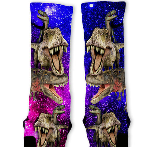 Dinosaur Galaxy Custom Nike Elite Socks