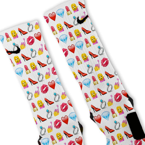Diva Emoji Custom Nike Elite Socks