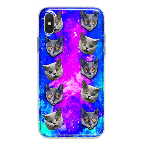 EVIL SPACE CATS CUSTOM IPHONE CASE