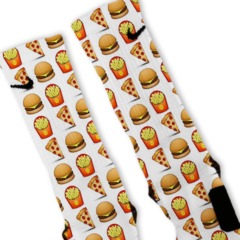 Fast Food Emoji Custom Nike Elite Socks