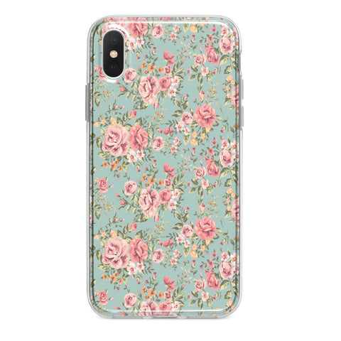 FLORAL BLUE CUSTOM IPHONE CASE