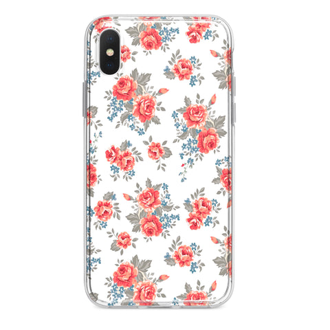 FLORAL WHITE CUSTOM IPHONE CASE