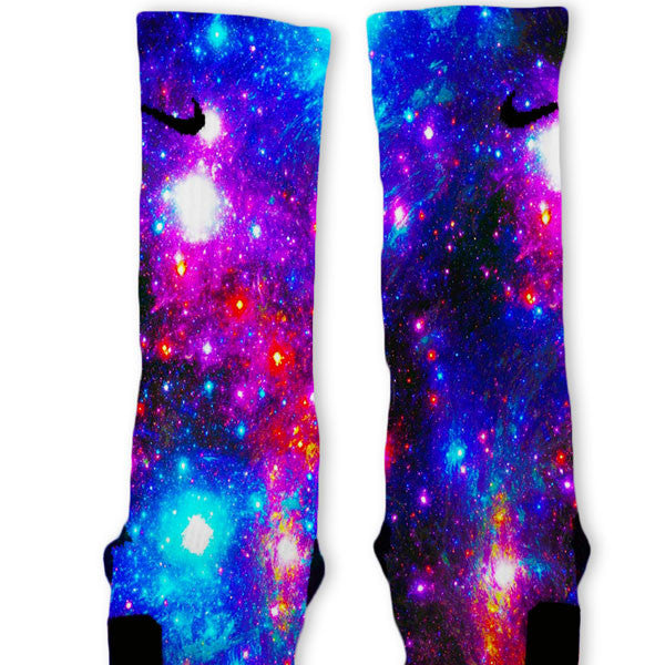 pastel evitar Copiar  Galaxy Explosion Custom Nike Elite Socks – Fresh Elites
