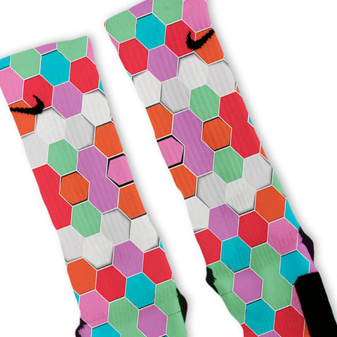 Hexagon Haze Custom Nike Elite Socks