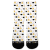 Hockey Emoji Fire Custom Athletic Fresh Socks