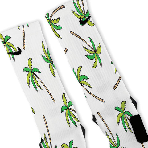 Palm Trees Custom Nike Elite Socks