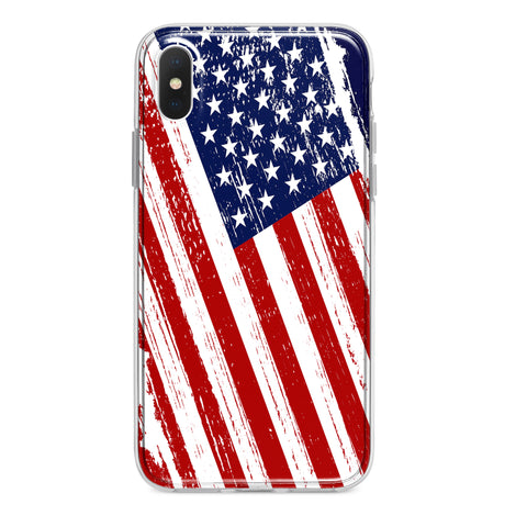 PATRIOTIC COLOR USA AMERICAN FLAG CUSTOM IPHONE CASE