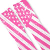 Patriotic Pink USA Flag Custom Athletic Fresh Socks