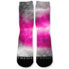 Pink Storm Custom Athletic Fresh Socks