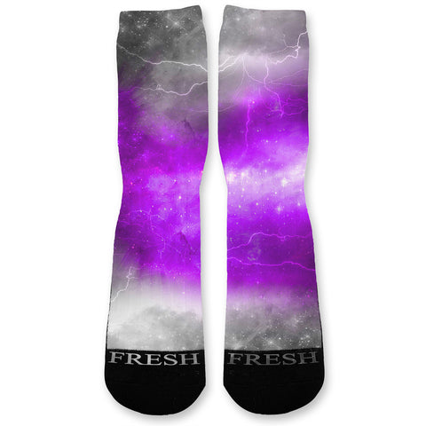 Purple Storm Custom Athletic Fresh Socks