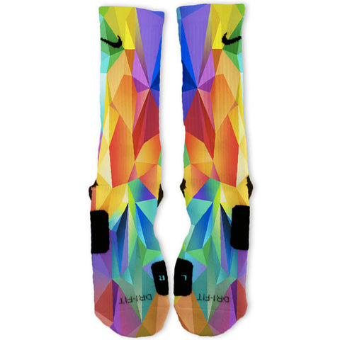 Rainbow Polygon Customized Nike Elite Socks