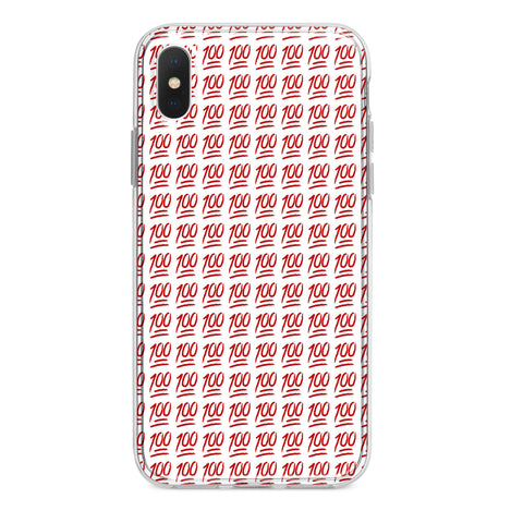 RED KEEP IT 100 EMOJI CUSTOM IPHONE CASE