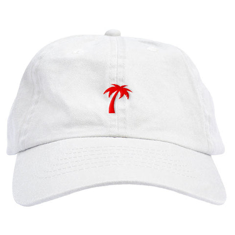 Red Palm Tree Dad Hat