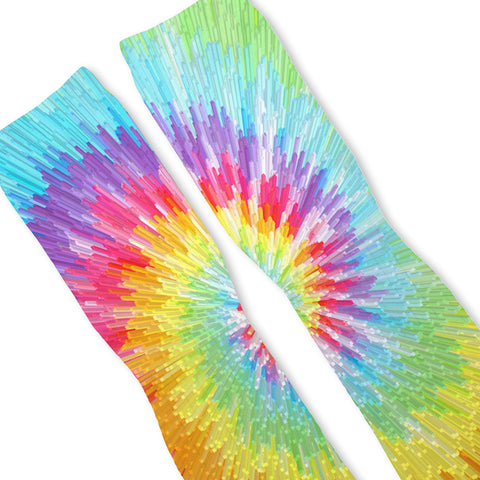 Tie Dye Blast Custom Athletic Fresh Socks