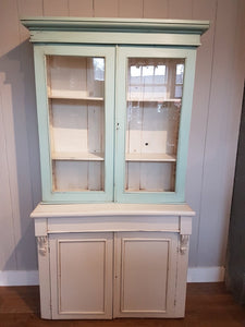 Milk-painted Mahogany Glazed Bookcase