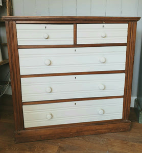 Distressed Satinwood Chest of Drawers