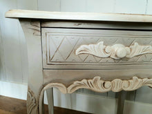 Load image into Gallery viewer, Mahogany Painted Bedside draw.