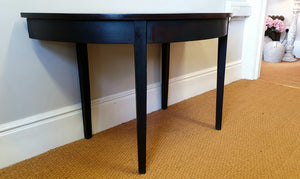 Mahogany D-End Table