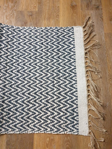 Recycled Handwoven Cotton Rugs - Dark Grey