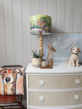 Load image into Gallery viewer, Hand Painted Mahogany Bow Fronted Chest Of Drawers