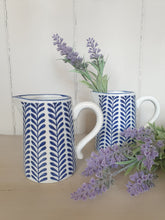 Load image into Gallery viewer, Blue & White Leaf Jug
