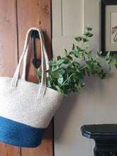 Load image into Gallery viewer, Indigo Jute Bag
