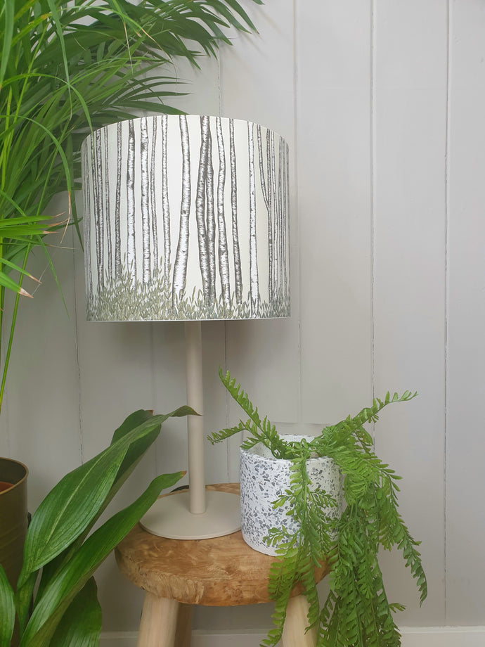 Sliver Brich Trees Lampshade