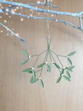 Load image into Gallery viewer, Mistletoe Spray Hanging decoration