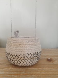 Handwoven Cotton & Jute Basket