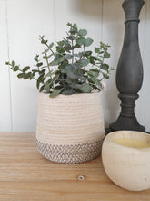 Load image into Gallery viewer, Handwoven Cotton & Jute Basket