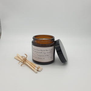 Hand Poured Soy Candle Pharmacy Jar 120ml - 36Hours Burning Time