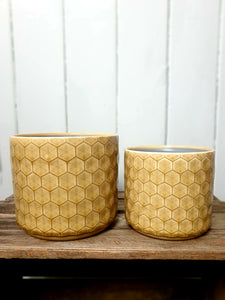 Geometric Honeycomb Plant Pot - 2 Sizes