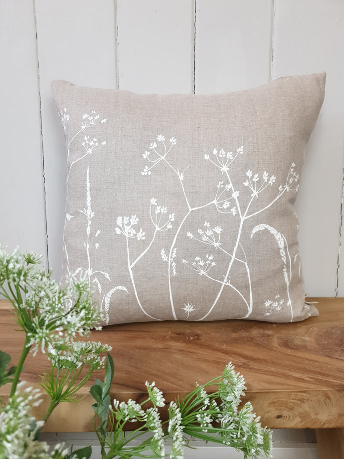 Countryside Grasses Pure Linen Cushion
