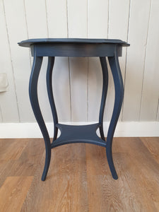 Dark Blue Round Occasional Table