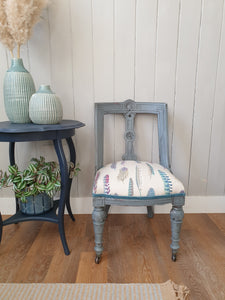 Victorian Painted and Re-Upholstered Chair