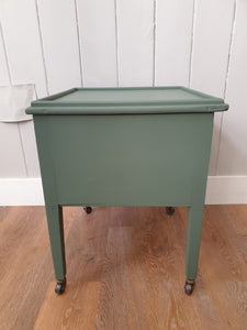 Painted Sage Green Low Cupboard