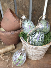 Load image into Gallery viewer, Herbs & Lavender Glass Eggs - Set of 4