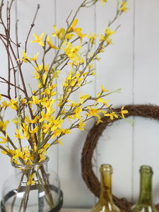 Yellow Forsythia - Faux Greenery Stem