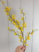 Load image into Gallery viewer, Yellow Forsythia - Faux Greenery Stem