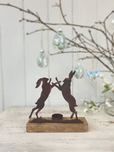 Load image into Gallery viewer, Boxing Hare's Tealight Holder