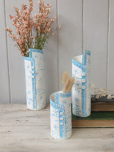 Load image into Gallery viewer, Lace & Blossom Ceramic Vase - 3 Sizes