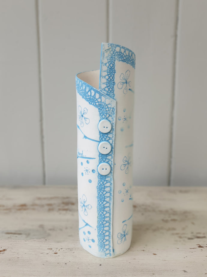 Lace & Blossom Ceramic Vase - 3 Sizes