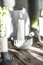 Load image into Gallery viewer, Zinc Wavy Edged Candle Holder