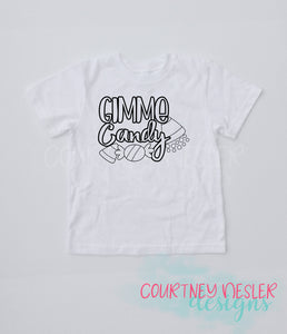 Youth Gimme Candy Halloween Color Me Shirt, Coloring Book Shirt