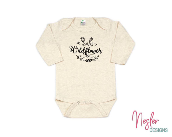 Wildflower Infant Shirt, Baby Gift, Infant Bodysuit, Baby Girl Shower Gift, Coming Home Shirt, Miracle Baby Girl, Personalized Gift