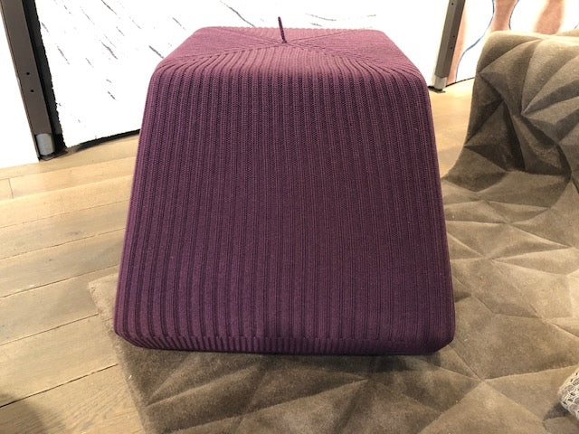 Burgundy Cube Pouffe-Accessories-Topfloor By Esti-LOT.co.uk