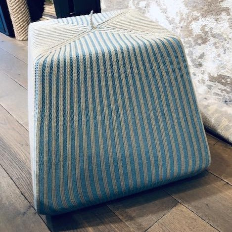 Light Blue Cube Pouffe-Accessories-Topfloor By Esti-LOT.co.uk